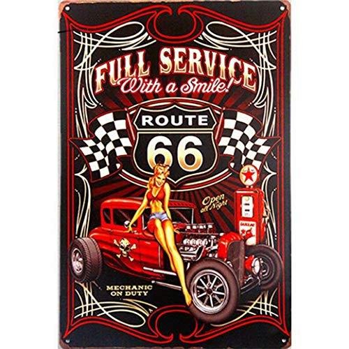 Full House Signs (Harvesthouse Vintage Tin Signs Route 66 Wall Sticker Home Decor House Office Garage Iron Paintings Metal Paintings - Full Service)