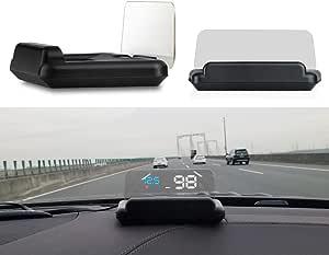 Coomir C500 Obd2 Hud Head Up Display Mit Spiegel Digital Car Speed Projektor Computer Kraftstoff Kilometerstand Auto