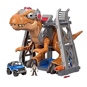 Imaginext Jurassic World, Dinosaurio Rex Jurásico de juguete (Mattel FMX85)