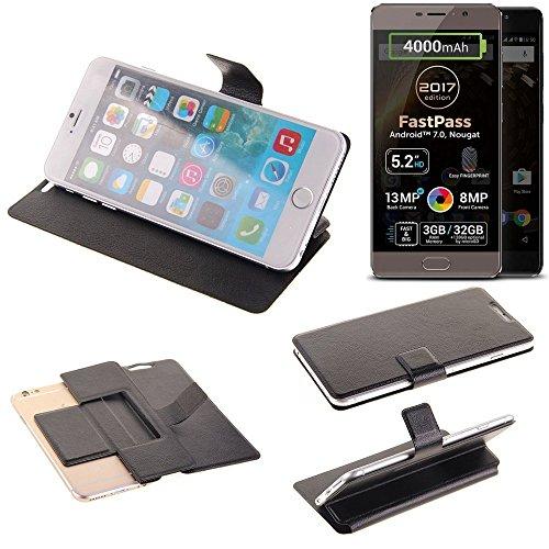 K-S-Trade Schutz Hülle für Allview P9 Energy Lite (2017) Schutzhülle Flip Cover Handy Wallet Case Slim Handyhülle bookstyle schwarz