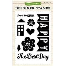 Echo Park Paper Company epstamp4Happy Family Juego de sellos Scrapbook