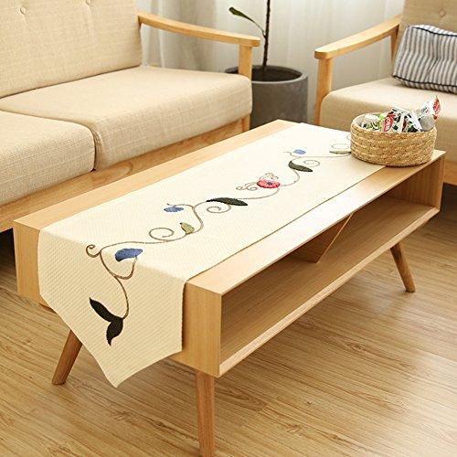 JINGJIE Tischläufer gestickt moderne schlichtheit land stylecoffee tabelle tv-schrank hochzeit bankett dekoration-A 40x180cm(16x71inch)
