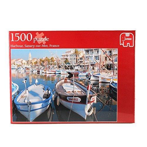 Jumbo 17042 - der Hafen von Sanary-Sur-Mer, Frankreich Puzzle, 1500 Teile by Jumbo