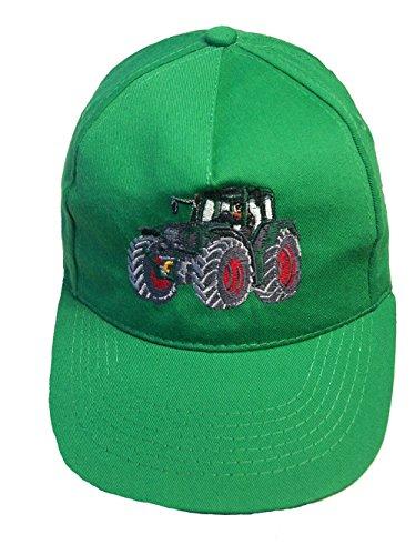 Zintgraf Jungen Cap Baseball Kappe Traktor Stickerei Grüner Schlepper (grün)