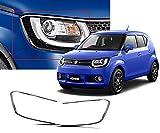 #10: Auto Pearl - Premium Quality Chrome Plated Head Light Cover For - Maruti Suzuki Ignis - Set Of 2Pcs