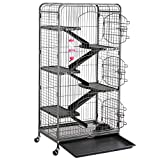 Yaheetech Grande Cage pour Rongeurs/Rats/Furets/écureuils/Chinchillas - 6 Niveaux 64...