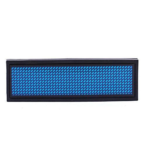 Blaue LED Programmierbare Scrolling Name Tag Badge Display Moving Zeichen Wiederaufladbare Programmierung Scrollen für Restaurant Shop Party Bar Ausstellung - Scrolling-display