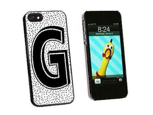 ouucase Lettre G Initiale nutrifer Noir Blanc coque pour iPhone 5/5S-Noir DIY HD Housse PC Pour New Design
