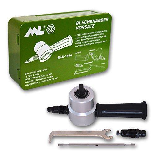 Blechnibbler Blechknabber Vorsatz für Bohrmaschinen und Akku-Schrauber Nibbler
