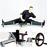 BAY® STAHL Beinspreizer mit Drehkurbel mechanischer Bein-Strecker Spagat-Trainer Metall Beintrainer