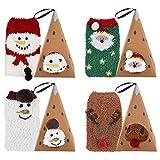 ZOYLINK 4 PCS Flauschige Socken Kuschel Weihnachtssocken Nette Karikatur-Breathable verdickte Mannschafts Socken Damen Socken Socken