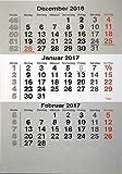 HiCuCo Kalendarium (lose Blätter) für 2 Jahre (2017+2018) passend für 3-Monats-Tischkalender Edelstahl TypB