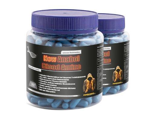 New Anabol Blood Amino! extremer Muskelaufbau 2x350 Kapseln Diät Fettverbrennung Anabolika Aminosäuren Kraft Masse Muskelaufbau Nahrungsergänzung Eiweiß