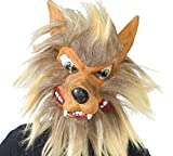 Guirca - Careta lobo látex con pelo, Talla única (2724.0)
