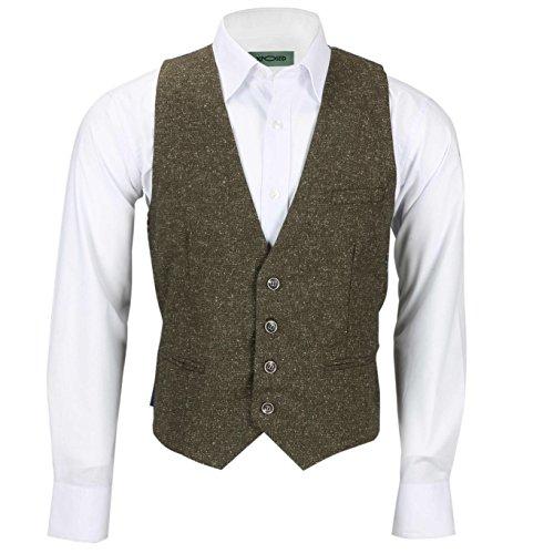 Xposed Herren Blazer Anzug * Waistcoat-PWC-Tan Brown
