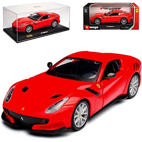 c09d6122715c Bburago Ferrari F12 TDF Coupe Rot 2012-2017 mit Sockel und Vitrine 1 32