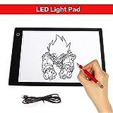 Lovebay A4 LED Leuchttisch Dimmbar Zeichnen Leuchtplatte mit USB für Handwerk Animations Tattoo Quilting Comic Master - 24 x 36 cm