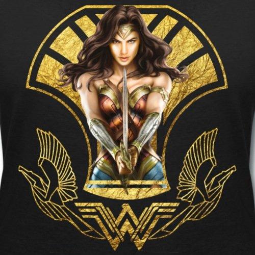 Warner Bros Wonder Woman Avec Épée T-shirt col V Femme de Spreadshirt® Noir