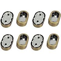 DealMux Armario ropa del metal palanca de soporte Soporte de bronce 8pcs tono para tubo 32mmx16mm