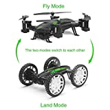 RC Quadcopter, UMsky 2 in 1 Multifunctional 2.4Ghz UAV Off-road Flying Car Remote Control Quadcopter RC Drone with WIFI Camera (RC Quadcopter)