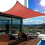 Greenbay Terracotta Patio Anti-UV Shade Sail - 4x3m Rectangle - Gazebo Sail Awning Canopy