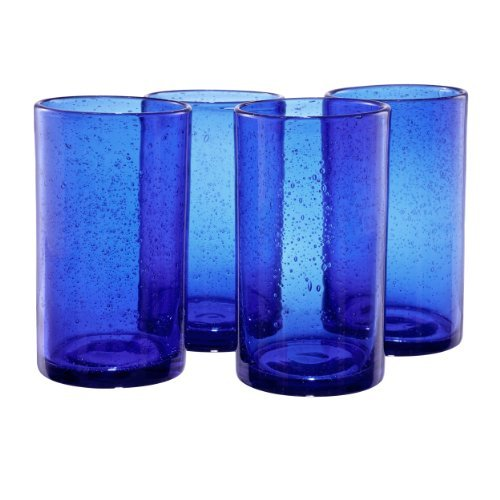 Artland Iris Highball Glasses, Cobalt Blue, Set of 4 by Artland Iris Highball