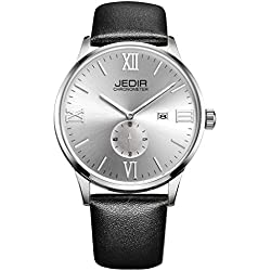 YPS Men Roma Number Nail Shape Scale Quartz Movement Small Second Dial Calendar Fashion Casual Watch WTH5376