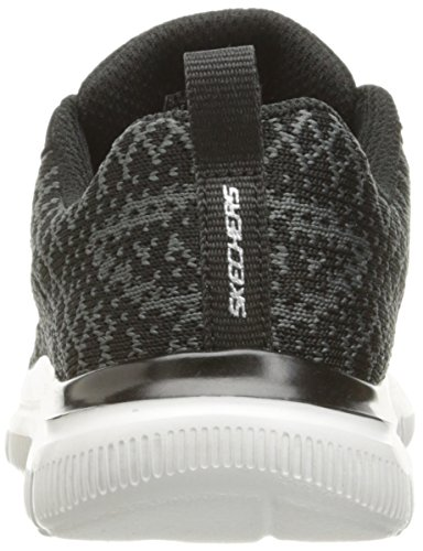 Skechers Flex Advantage 2.0-Golden Poi, Sneakers Basses Garçon Noir (BKCC)