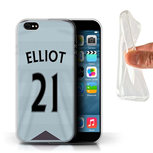 Offiziell Newcastle United FC Hülle / Gel TPU Case für Apple iPhone 6S+/Plus / Pack 29pcs Muster / NUFC Trikot Away 15/16 Kollektion Elliot