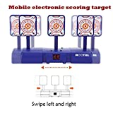 Luccase Auto-Reset Target Intelligent Light Sound Effect Mobile Electronic Digital Scoring Move Target Target Game Toys for Kids Gift