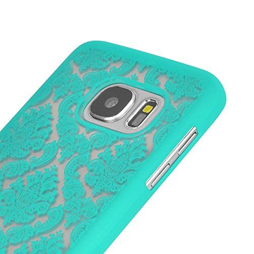 iProtect Samsung Galaxy S7 Hard Case - transparent edles orientalisches Design in Weiss S7 Grün