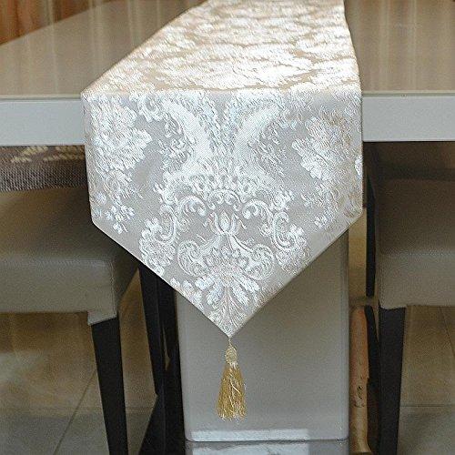 Preisvergleich Produktbild QIZHU0 Tischläufer Jacquard Ein silberner bestickt Bett eingerichtet weich Lade Flagge Striped Home Textile Tischdecken Leinen Tischdecke b