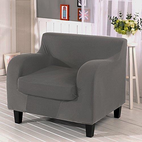 Stretch Sofa Set (2Stück elastischer Stoff Sofa Schonbezug Couch rutschfest Displayschutzfolie, grau, 1 seater (Set Stück 2 Sofa)