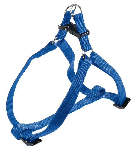 Ferplast 75570925 Easy P Large Pettorina per Cani in Nylon con Gancio Chiusura in Plastica, 50x78 cm, 20 mm, Blu