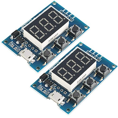 MakerHawk 2pcs Digital 2 Channal PWM Square Wave Pulse Signal Generator Adjustable Frequency Duty Cycle 100% 1Hz-150KHz for Stepper Motor Driver (Duty-motor)