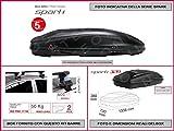 Proposteonline portabagagli Box Tetto Auto 133 x 73 x 36 cm per Toyota Yaris 1999  con Barre Portapacchi portatutto ev40gt