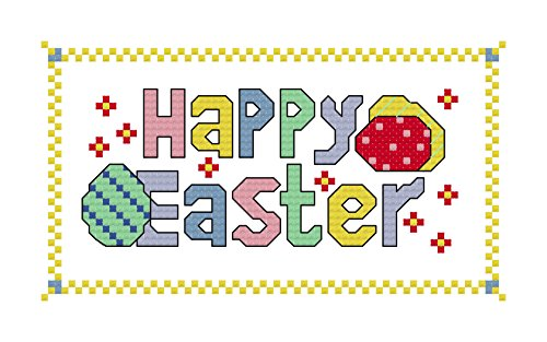 Happy Easter cross stitch chart/ pattern: Cross stitch design suitable for making Eatser cards/ putting in frames (English Edition) -
