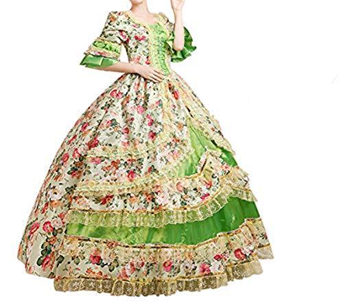 Nuoqi®Damen Satin Gothic Victorian Prinzessin Kleid Halloween Cosplay Kostüm (40, CC2377H) (Prinzessin Halloween Für Kleid)