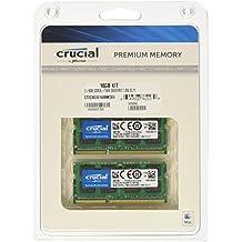 Crucial - Memoria para Mac de 16 GB (kit 8 GB x 2, DDR3L, 1600 MT/s, PC3-12800, SODIMM 204-Pin) - CT2C8G3S160BMCEU