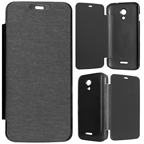 DMG Durable Protective PU Leather Flip Book Cover Case for Micromax Canvas A114 2.2 - Black  available at amazon for Rs.199