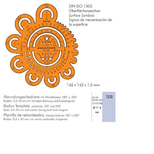 Abrundungsschablone, mit Tuschenoppen, 162x1,2mm