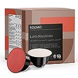 Marca Amazon - Solimo Cápsulas Latte Macchiato, compatibles Dolce Gusto* - café certificado UTZ - 96 cápsulas (6 x 16)