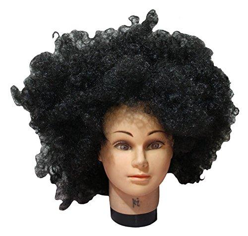 n-Kostüm schwarz Big Perücke Afro Haar für Unisex Einheitsgröße Gr. One size, schwarz (Afro Halloween-kostüm)