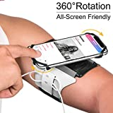 VUP Universal Running Armband, 360°Rotatable Mobile Phone Holder Armbands For Running Band Compatible with iPhone X Xr Xs Max 7/8 Plus Samsung S9 S10 (Reflective Silver)