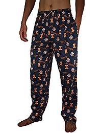 NCAA Mens Illinois Fighting Illini Cotton Sleepwear / Pajama Pants