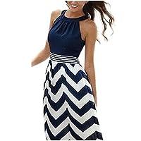 vestidos de fiesta largos de noche Sannysis vestidos playa mujer, color azul (3XL)