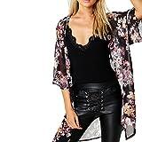 Vovotrade® Frauen Sommer Chiffon Kimono Cardigan Plus Size Shawl Blusen (Size:M, Schwarz)