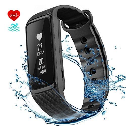 Fitness Tracker, OMorc Braccialetto Sport Activity Tracker IP68 Impermeabile Weloop Now2 Bluetooth 4.0 Contapassi Cardiofrequenzimetro, Sonno Monitoraggio, Monitoraggio Calorie, Notifiche Chiamate, Compatibile per iOS 8.0 o Superiore, Android 4.4 o Sopra, Nero