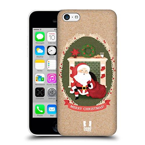 Head Case Designs Sacco Classici Del Natale 2 Cover Retro Rigida per Apple iPhone 3G / 3GS Camino