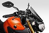 Yamaha MT09-FZ09 2014/16 - Windschutzscheibe 'Warrior' - Aluminium Windschild Windabweiser Scheibe - Einfache Installation - Mattschwarz - Motorradzubehör De Pretto Moto (DPM) - 100% Made in Italy